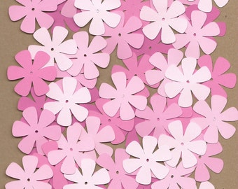 55 1.5 inch flowers Pinks Cricut  Die Cuts