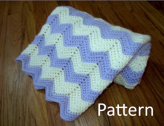 Crochet Baby Blanket Pattern Pdf Chevron