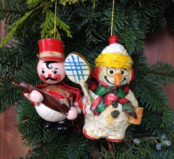 vintage paper mache ornaments eBay