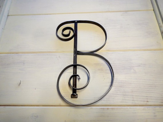 Metal Letter B Wall Decor : Metal initial b capitol letter custom scrolled by