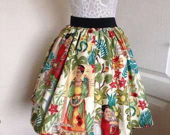 Ladies or girls Frida's Garden full skater style skirt