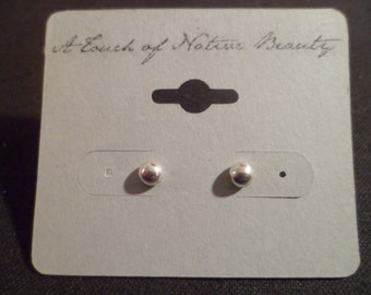 Authentic Navajo,Native American,Southwestern sterling silver ball or bead stud earrings.Made to order.