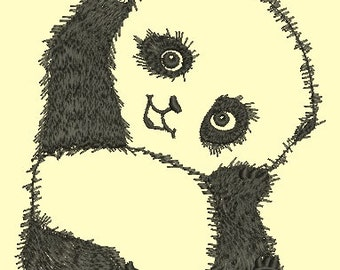 panda embroidery - Machine Embroidery Design