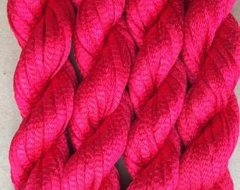 Hand Dyed Viscose Ribbon, 10/167 Viscose Ribbon, Rayon Ribbon, Embroidery, Thread, Canvaswork, Needlepoint, Shocking Pink