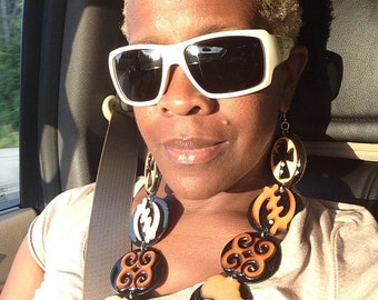Adinkra Chandelier Earrings
