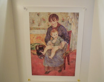 LIQUIDATION SALE- Renoir Print- Mother and Child, 1994 Print by The Barnes Foundation # 935 of 1500, 24 by 18  Shipped in tube