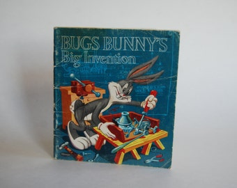 Vintage Children's Book, Bugs Bunny's Big Invention