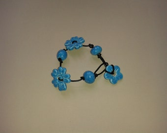 Hand Made Ceramic Bead Bracelet