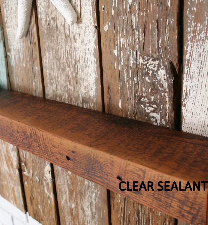 Green Shelves Canisters Diy Island Wood Nailed To: Vintage Barn Wood Floating Shelf/Mantel Rustic Loft Cottage