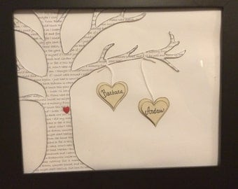 Song lyric tree with personalized names