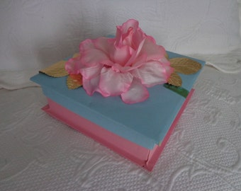 SALE Vintage Pangburn's Pink and Blue Candy Box - 40s - ECS