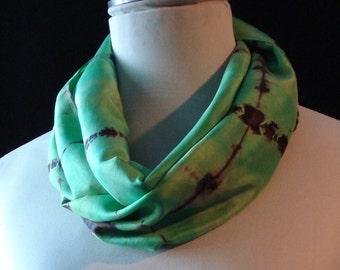 Silk Scarf - Apple Green