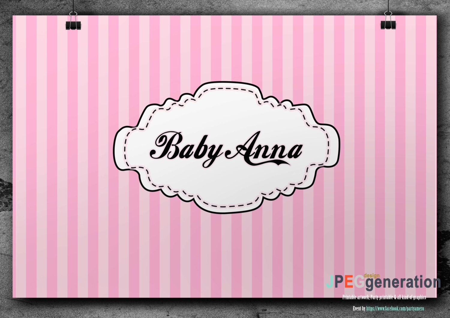 baby shower pink backdrop baby shower baby blue banner