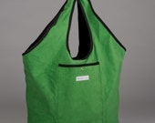Large Kelly Green Urban Shopping Tote