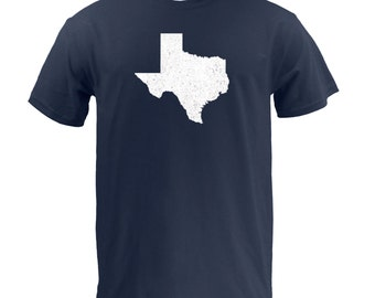 Distressed Texas State Shape - Navy