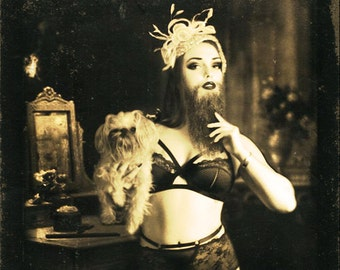 FREAKSHOW - Bearded Lady- Poster Print