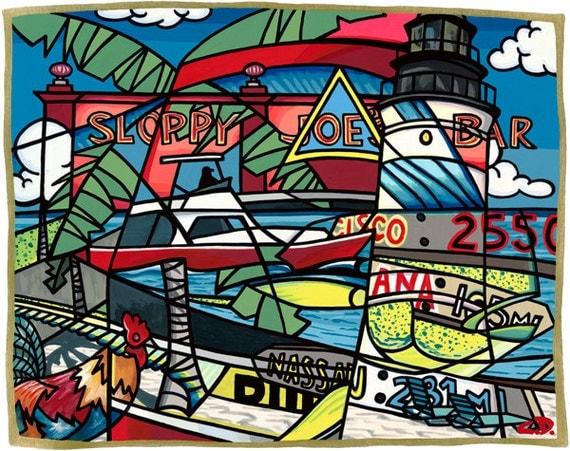 """Key West - Winter's Bottom, USA (11""""h x 14""""w)"""