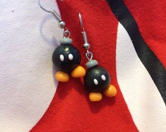 Adorable Bob Omb Dangle Earrings