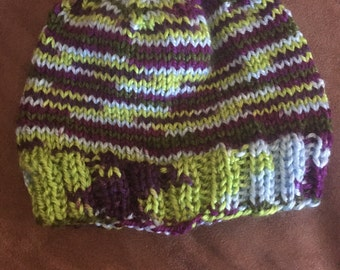 Reversible Knit Baby Hat