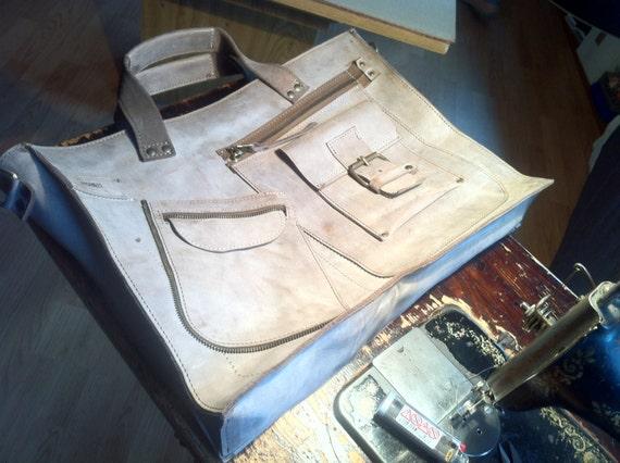 Waterproof Briefcase 15 inch Macbook Complicated Laptop Leather Bag, Handmade Laptop Bag, Handmade Briefcase, Handmade Bag