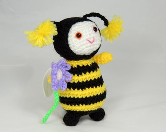 Bumble Bee Crochet Bee with Safety Eyes