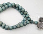 Original Style Love Beads for the home - Aqua Beads with Heart