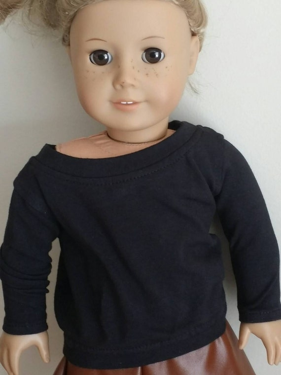 Black Slouchy Sweater for American Girl and other 18 inch dolls
