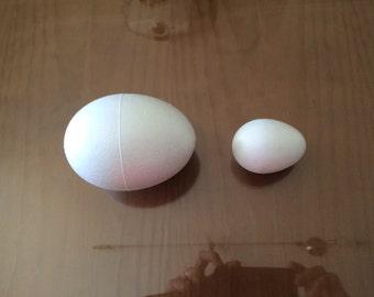 Styrofoam Egg balls supplies (white) excellent for crafting
