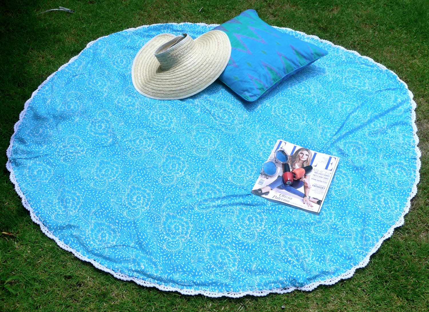sarong cercle aqua par o plage ronde avec couverture de. Black Bedroom Furniture Sets. Home Design Ideas