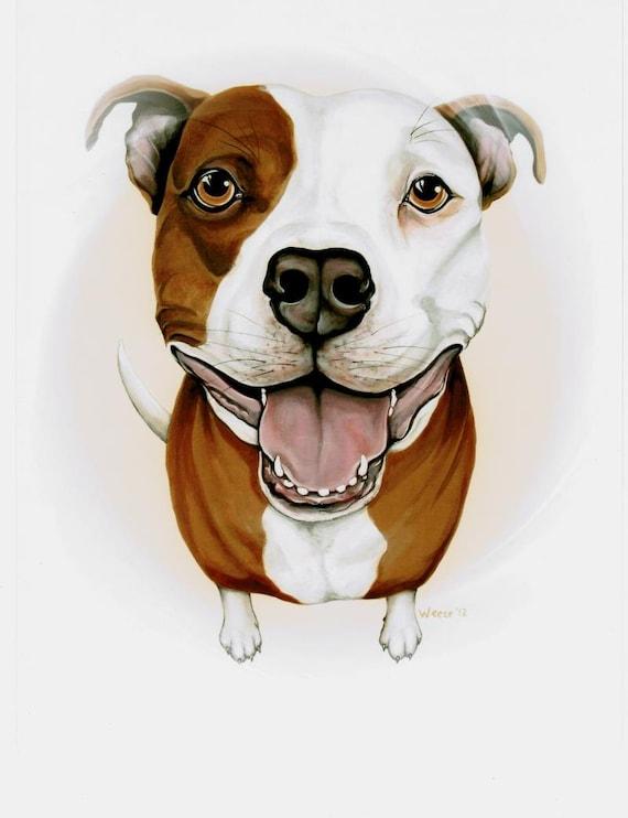Pit Bull Pit Bull Art Pit Bull Terrier Pitbull By Artbyweeze