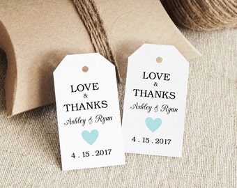 Gift Tag Printable, Text Editable, Col#30 Blue, SMALL Tag Size, INSTANT Digital Download, Gift Tags, Favor tag, Thank You Tag, Wedding Tags