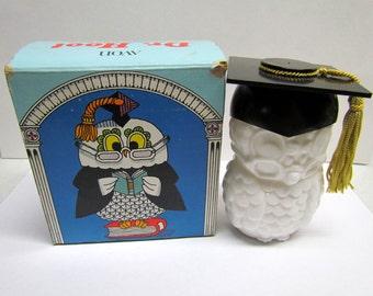 Dr. Hoot Owl Decanter Vintage AVON / Bottle Figurine, with original box, Bottle is Empty - Home Decor - Collectible AVON