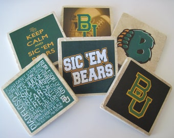 Baylor Bears Coasters - Set of 6