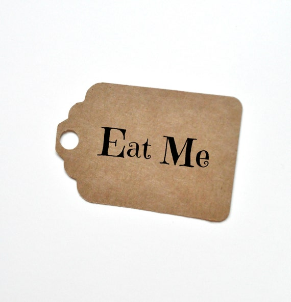 Eat Me Tag Alice In Wonderland Theme Eat Me Favour Tag