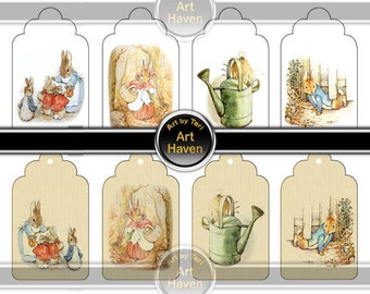 peter rabbit image from Tale of Peter Rabbit, instant download - digital collage sheets - paper - invitation
