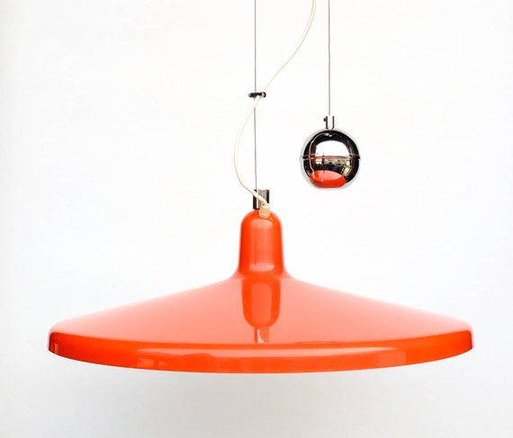 Large Adjustable Pulley Ceiling Light Rise Amp Fall Space Age