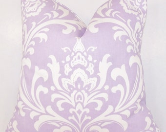 purple throw pillow pillow cover lavender pillowtoss pillowlight purple pillow