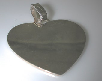 Sterling   Silver Heart large