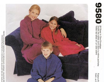 Girls' & Misses' Couch Cozy - Oversize Jumpsuit - Wearable Comforter - McCall's 9580 Sewing Pattern