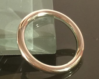 Perfect Circle Heavy Round Ring in Sterling Silver - Simple Wedding Band