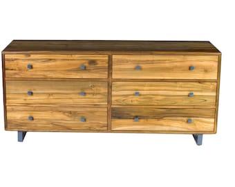 Ardan 6 Drawer Dresser - Solid Reclaimed Teak Wood -  Mid Century Modern Dresser Storage