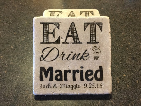 Personalized Coasters Wedding Gift: Items Similar To Personalized Coasters, Textured Stone
