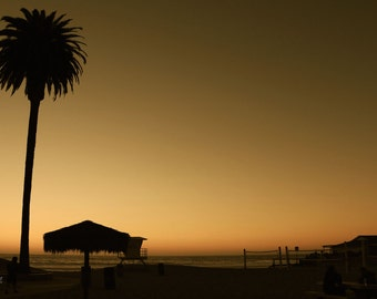 "Fine Art Photo - Title: ""Moonlight Beach"" - california, moonlight beach, SoCal, sunset, peaceful, ocean"