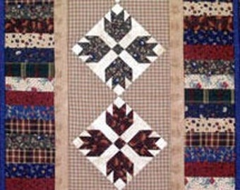MH Designs Bear Claw Runner A Paper Piecing Foundation Pattern Geometric Quilt Design