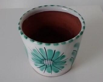 Vintage Norwegian Flower Pot. Made in Norway. Plant, Glazed