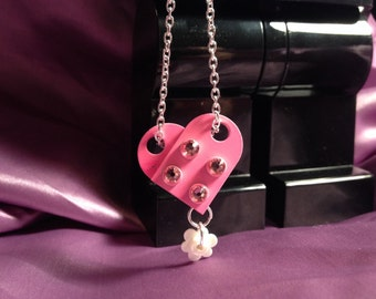 SALE Pink Lego Heart necklace !