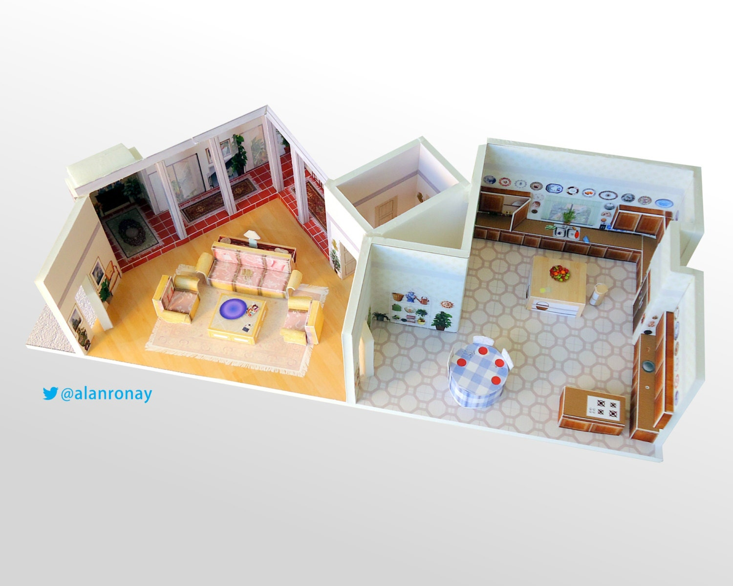 golden girls house scale model 6151 richmond by everydayminiatures