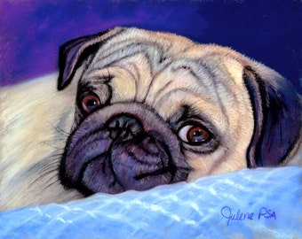 Pug Art, Pug Portrait, Pug Collection, Pug Gift Set