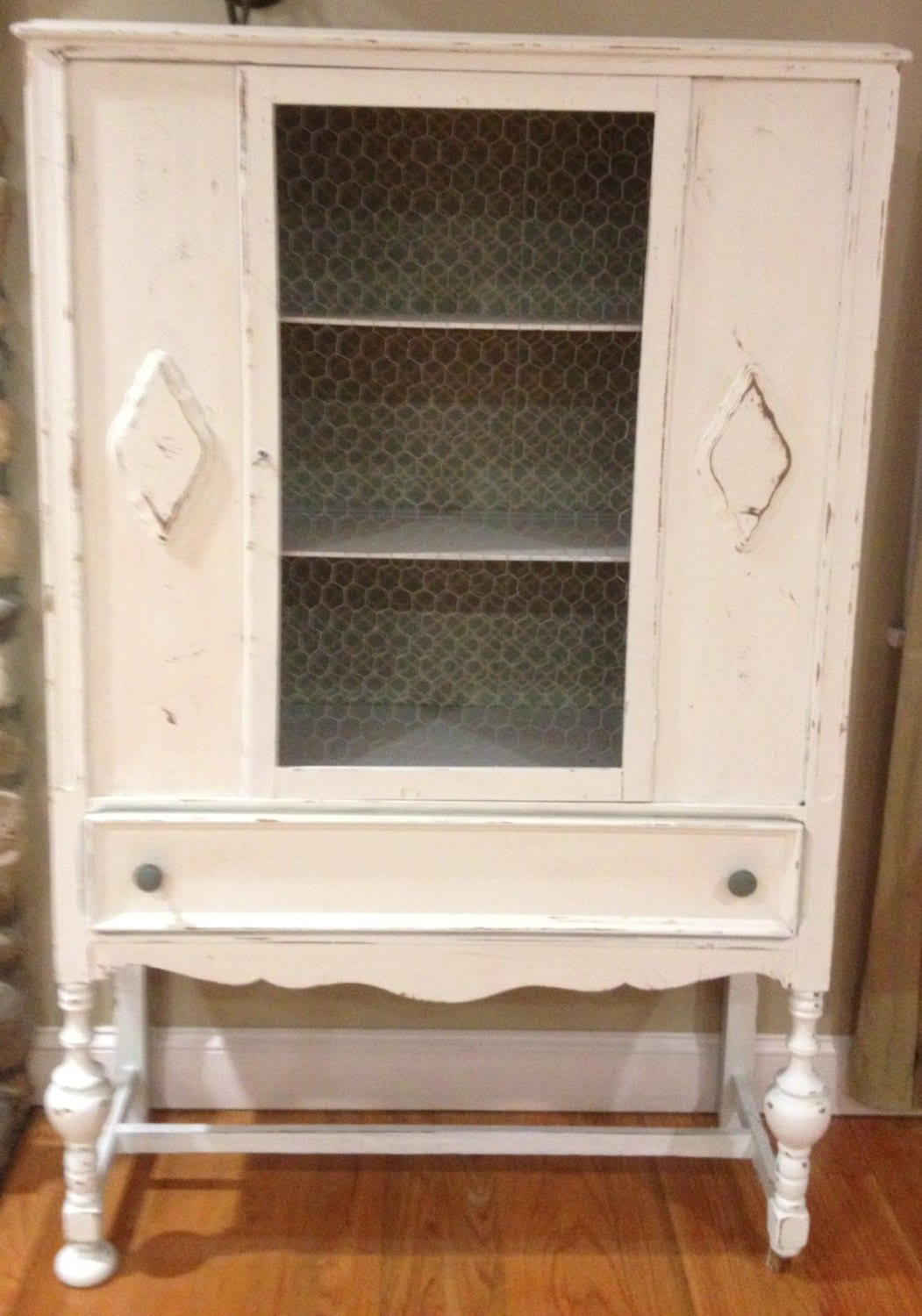 shabby chic antique hutch china cabinet by 14meadowridge on etsy. Black Bedroom Furniture Sets. Home Design Ideas