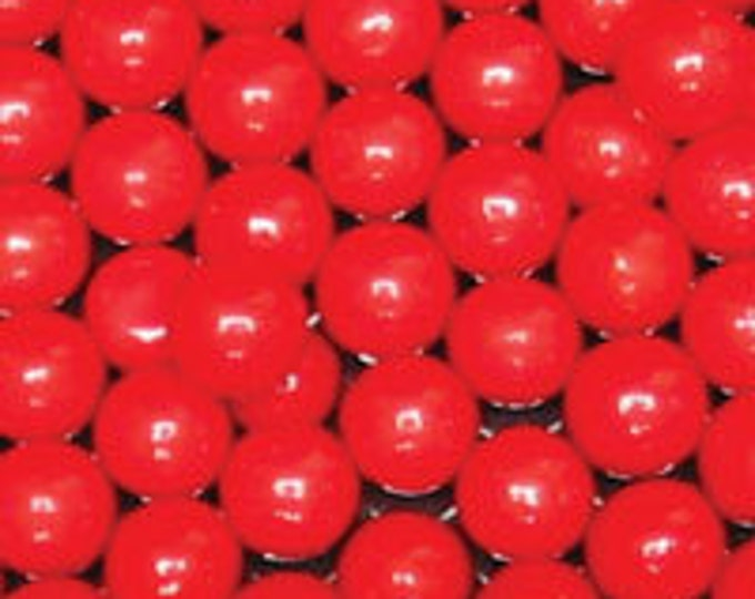 Red Pearl Candy Beads Edible Cupcake Decorations (2 ounces)